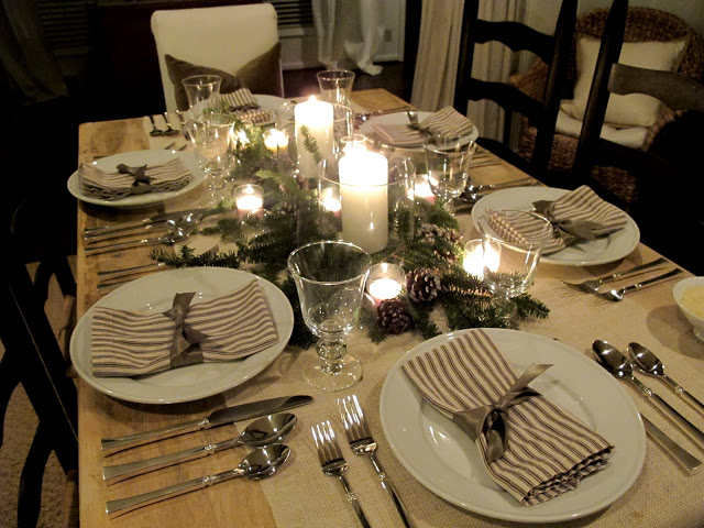 simple classy dinner party tablescape the everyday hostess. Black Bedroom Furniture Sets. Home Design Ideas
