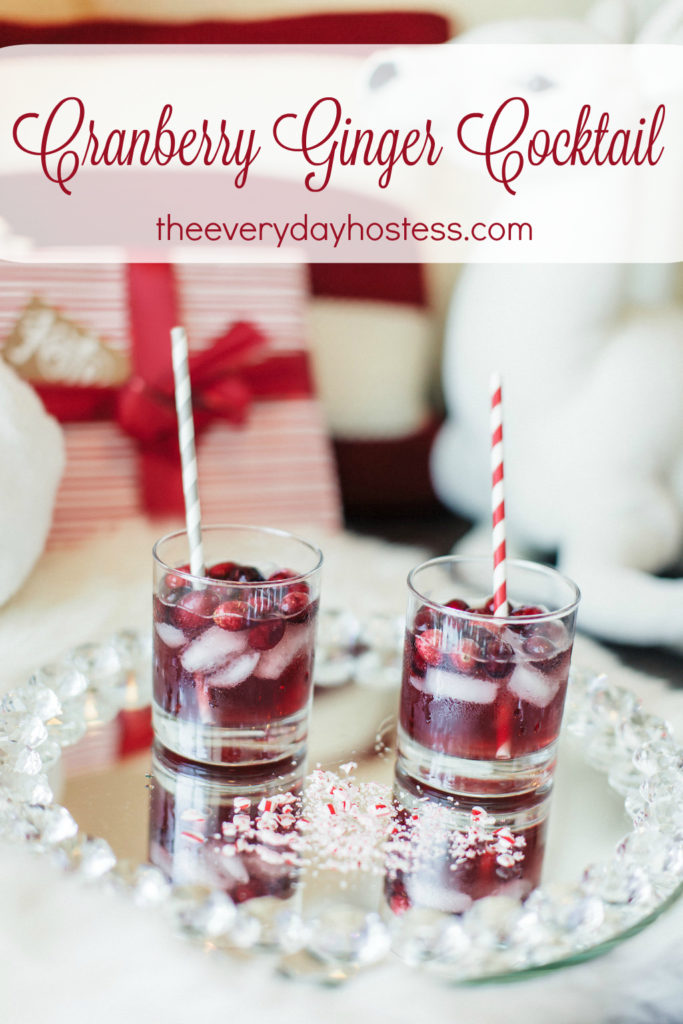 Cranberry Ginger Cocktail The Everyday Hostess